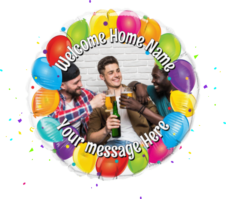 Welcome Home Photo Upload balloon