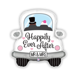 Happily Ever After Wedding Car Balloon