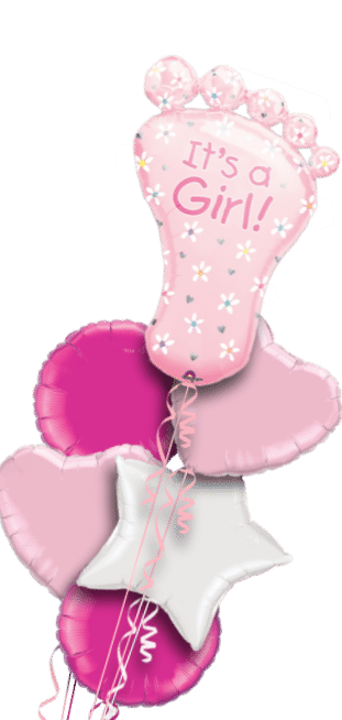 Its a Girl Baby Foot Balloon