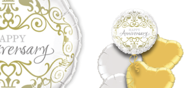 Anniversary Gold and Silver Balloon