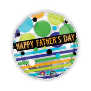 Fathers Day Dots and Stripes Balloon