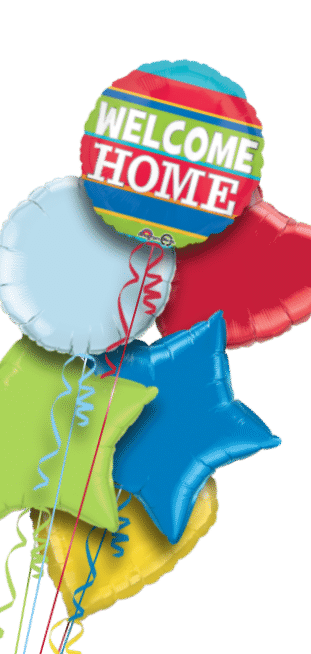 Welcome Home Stripes Balloon