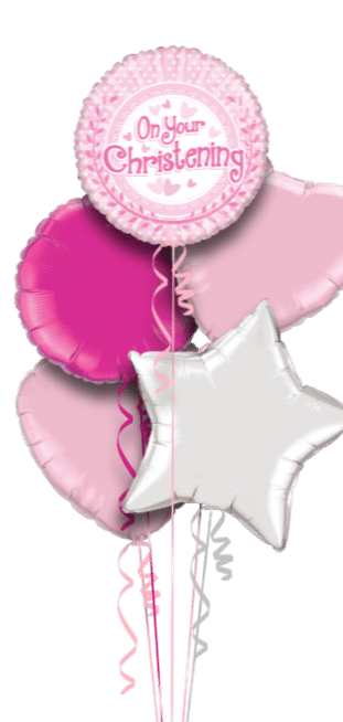 On Your Christening Pink Dots Balloon