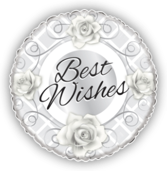Silver Roses Best Wishes