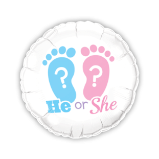 New Baby Shower He or She Balloon