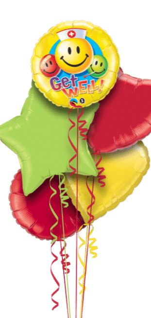 Get Well Smiley Faces Balloon