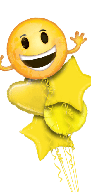 Smiley Face and Hands Emoji Balloon