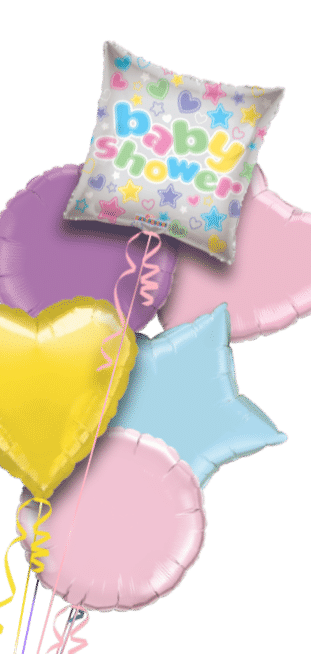 Baby Shower Stars and Hearts Balloon