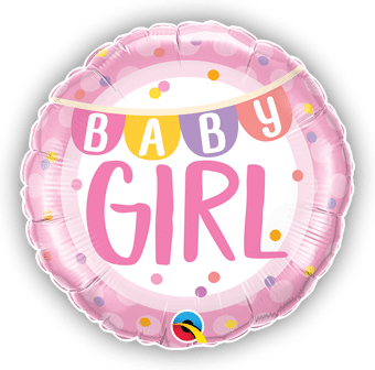 Baby Girl Banner and Dots