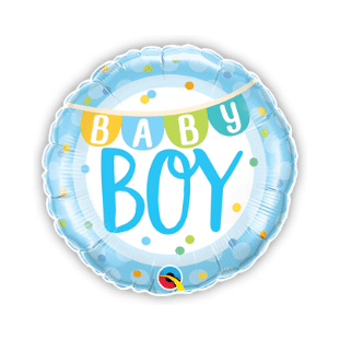 Baby Boy Banner and Dots Balloon