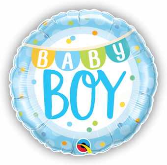 Baby Boy Banner and Dots