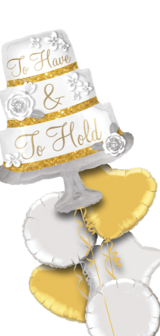 To Have and To Hold Cake Shape Balloon