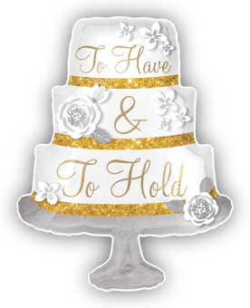 To Have and To Hold Cake Shape