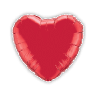 Valentines Red Hearts Balloon