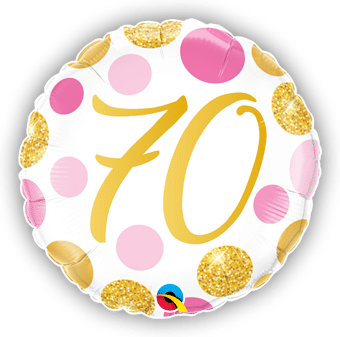 70 Pink and Gold Dots