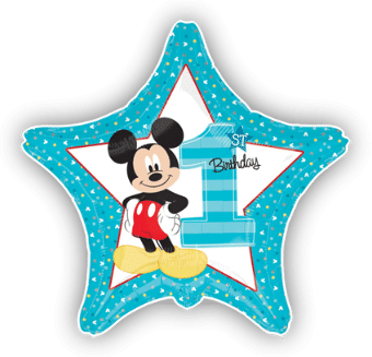 Mickey Mouse 1st Birthday Star