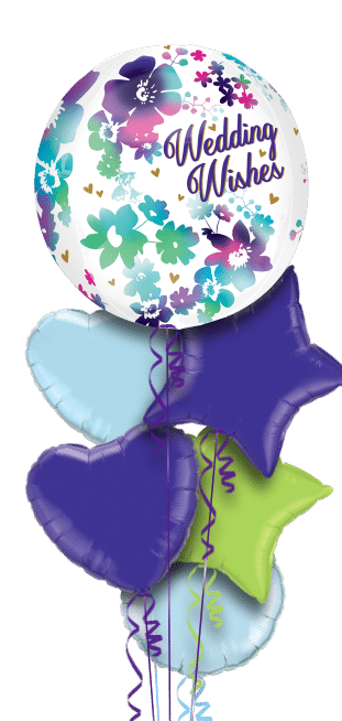 Water Colour Wedding Wishes Orbz Balloon