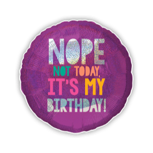 Nope Not Today Its My Birthday Balloon