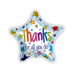 Thanks For All You Do Star Balloon