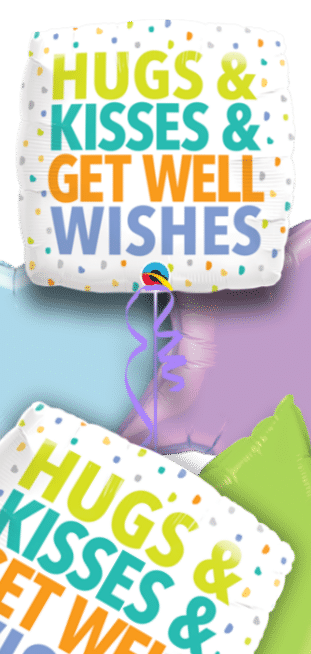 Hugs and Kisses and Get Well Wishes Balloon