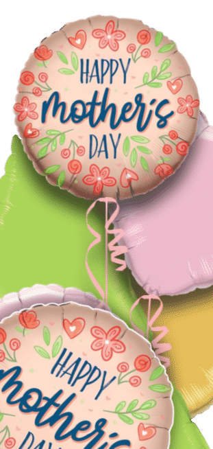 Mothers Day Rose Gold Flowers Balloon
