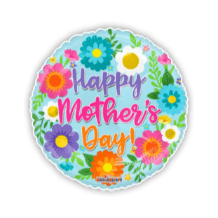 Mothers Day Bright Flowers Balloon
