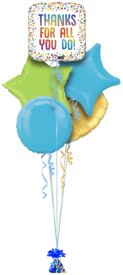 Thanks For All You Do Balloon Bunch