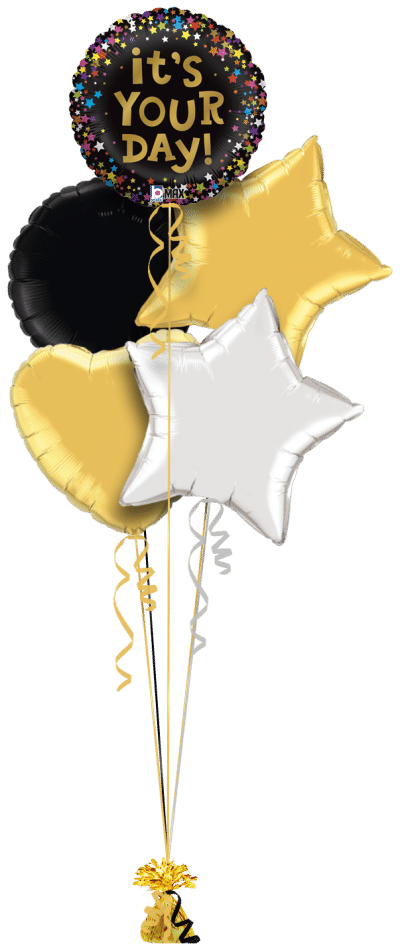 It's Your Day Balloon Bunch