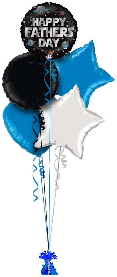 Galaxy Fathers Day Balloon Bunch