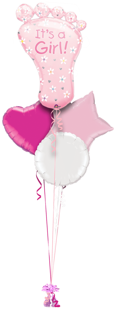 Its a Girl Baby Foot Balloon Bunch