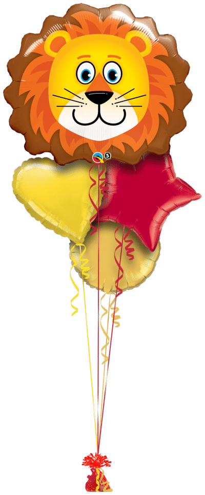 Loveable Lion Balloon Bunch