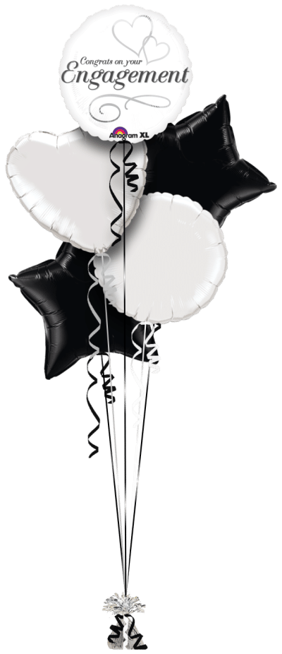 Congrats On Your Engagement Balloon Bunch