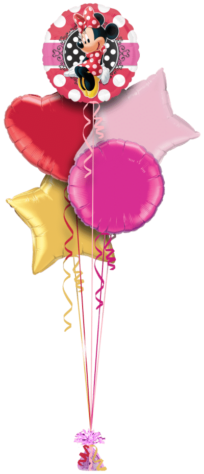 Minnie Mouse Balloon Bunch