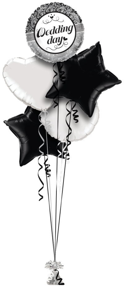 Wedding Day Floral Dots Balloon Bunch
