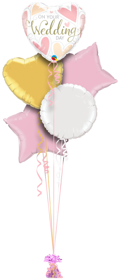 On Your Wedding Day Balloon Bunch