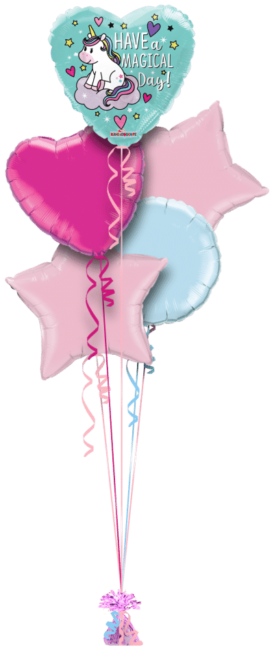 Have a Magical Day Unicorn Balloon Bunch