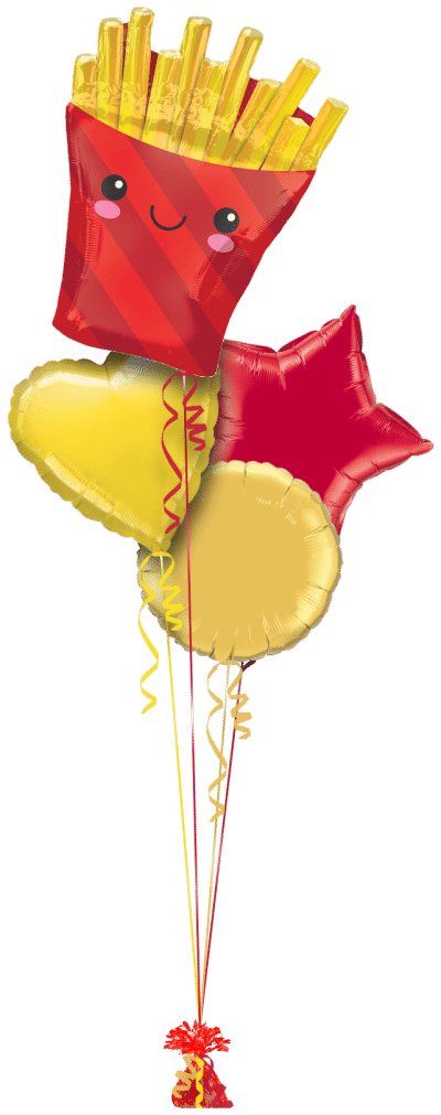 French Fries Balloon Bunch