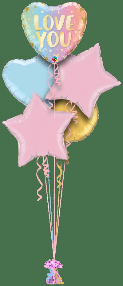 Love You Ombre Balloon Bunch