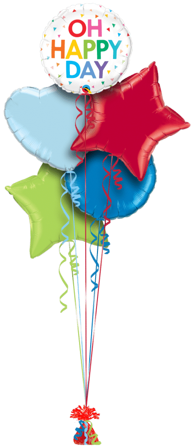 Oh Happy Day Balloon Bunch