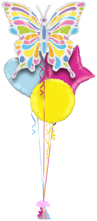 Colourful Butterfly Balloon Bunch