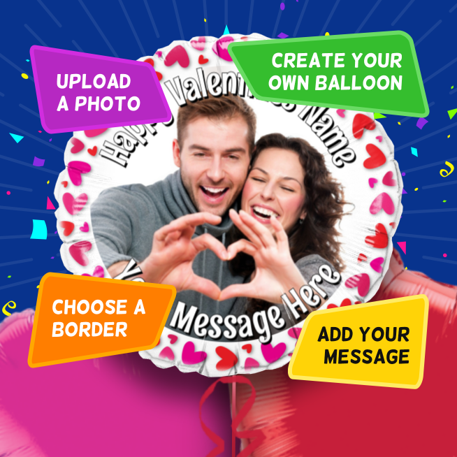 An example of a Valentine's photo balloon