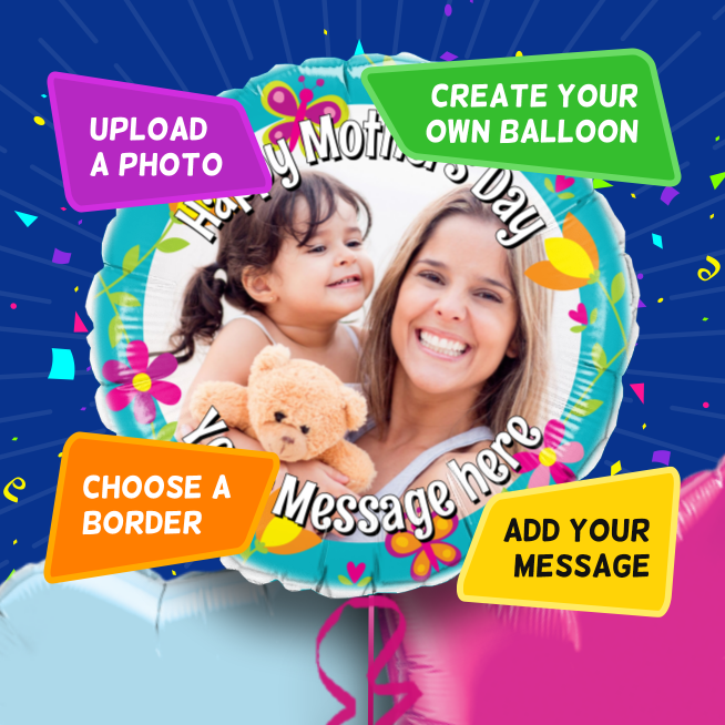 An example of a Mother's Day photo balloon