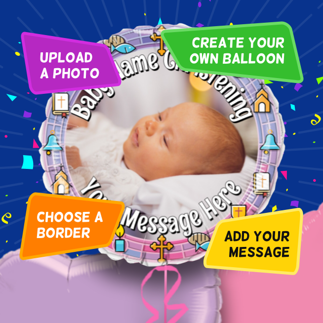 An example of a Christening photo balloon
