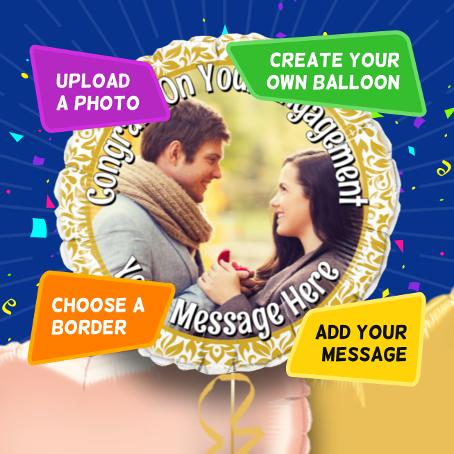 An example of a Engagement photo balloon